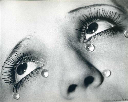 Glass tears, Man Ray, 1932 via WikiArt